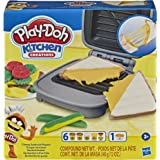 Play-Doh Kitchen Creations 三明治制作机套装 适合3岁以上儿童 弹性粘土和 6种其他颜色