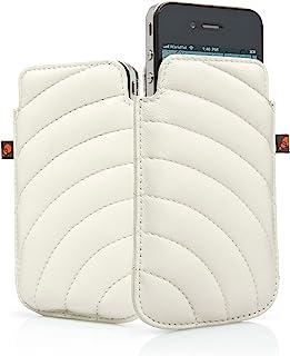 Cygnett CYGCY0494CPMAN 曼哈顿皮革手机壳适用于苹果 iPhone 4/4S 奶油色