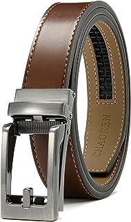 男式皮革棘轮皮带 仅 35 毫米 1 3/8 英寸,皮带不含皮带扣可调节