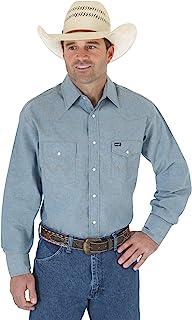 Wrangler Men's Authentic Cowboy Cut Work Western Long-Sleeve Shirt