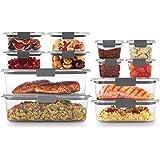 Rubbermaid Brilliance Storage 24件套 塑料盖子| 无BPA,防漏食品容器,透明