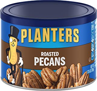 PLANETS 烤山核桃,7.25盎司,205克,可再密封罐,盐焗山核桃   成人零食   儿童零食   素食小吃,犹太洁食