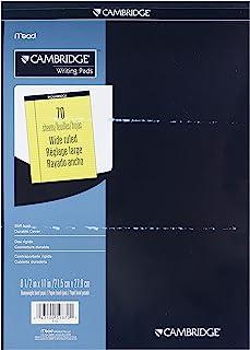 Mead Cambridge 硬壳便签本,宽行,8.5 x 11 英寸,淡黄色,每本 70 页,每包 12 本 (59870)