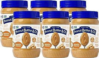 Peanut Butter & Co. 顺滑花生酱 ,不含麸质,素食产品,每罐16盎司 约454克(6罐装)
