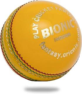 Cricnix 板球*室内皮革黄色 107.7 克,适合老年人或青少年