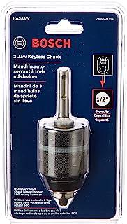 BOSCH 博世 3-Jaw 无钥匙卡盘,带 SDS-Plus 刀柄,1/2 英寸 HA3JAW