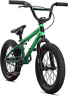 Mongoose Legion L16 自由式人行道 BMX 儿童自行车 - 儿童和初学者到高级骑手,16 英寸(约 40.6 厘米)轮子,Hi-Ten Steel 框架,Micro Drive 25x9T BMX 齿轮,*(M41600U10...