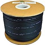 GLS AUDIO 散装麦克风电缆 300 英尺黑色麦克风 - 300 英尺信号中程线
