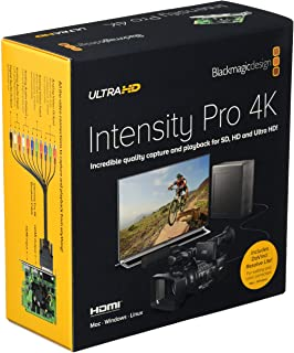 Blackmagic Design Intensity Pro 4K捕捉和播放输入/输出卡,30fps 超高清,1080p,60fps