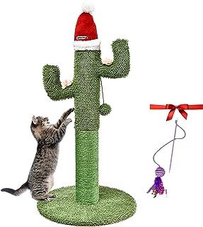 TOPKITCH 仙人掌猫抓柱和爬架(手工制作)(81.28 厘米)