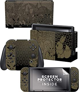 Controller Gear 任天堂切换皮肤和屏幕保护膜套装 - 口袋妖怪 - \Eevee EvLUTION Set 1\ - 任天堂开关