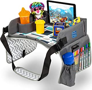 Kenley 肯利儿童旅行托盘,幼儿汽车座椅膝上托盘,16.5 x 13.5 英寸(蓝色/灰色)