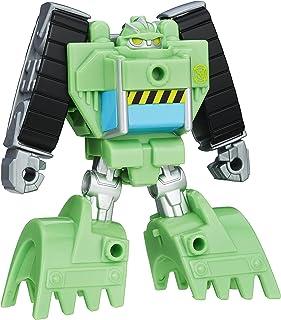 Playskool 英雄变形金刚救援机器人 Rescan Boulder 建筑机器人可动公仔