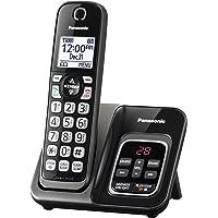 Panasonic 可伸缩无绳电话带电话屏和应答机 1 个听筒 7.10in. x 5.40in. x 4.80in…