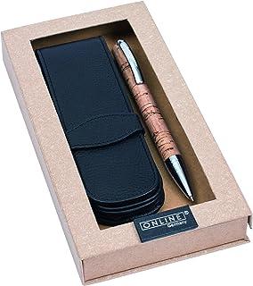 online 德國 Vision Cork愿景炎木系列寶珠筆套裝 配皮套 0.7黑色筆芯