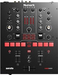 Numark Scratch-适用于Serato DJ Pro的两声道DJ Scratch混音器(包括),具有Innofader Crossfader,DVS许可证,6个直接访问效果选择器,性能键盘和24位音质