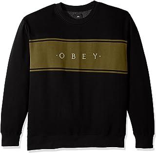 Obey 男式 Roebling 圆领羊毛运动衫
