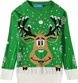 SSLR 大男孩趣味圆领套头衫 Ugly Christmas 毛衣