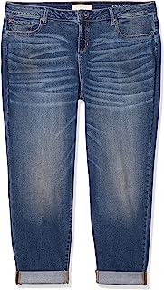 SLINK Jeans 女式加大码牛仔裤,蓝色,24