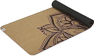 Gaiam 软木瑜伽垫 | 印花设计天然可持续软木*和异味 | * TPE 橡胶背衬 | 非常适合热瑜伽、普拉提(68 英寸 x 24 英寸 x 6 毫米厚)