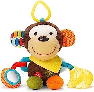 SKIP HOP 婴儿猴子玩具 Bandana 伙伴、牙胶玩具与多感官摇铃和纹理