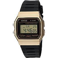 "CASIO 男式"" 经典"" 石英金属树脂休闲手表,颜色:黑色"