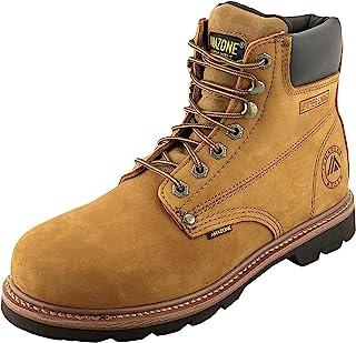 AMAZONE 男式 602 磨砂皮革结构工装靴莫卡辛鞋头,钢头,软鞋头