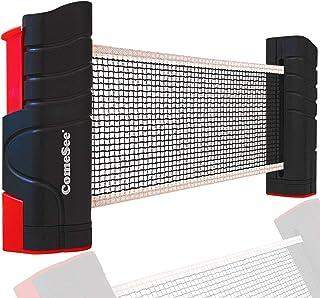 Comesee 可伸缩乒乓球网,适用于任何桌子、乒乓球网和台柱设备替换(黑色)