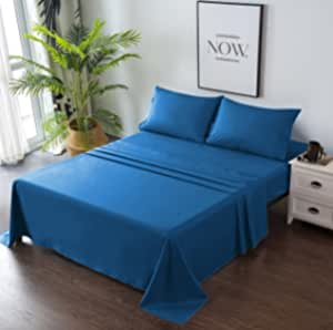 Goza Bedding 4 件套超细纤维床单套装 经典蓝色 两个