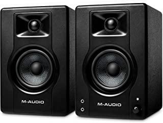 M-Audio BX3 – 有源 120 W 台式电脑扬声器 / 工作室监听器 适用于游戏、音乐制作、现场流媒体和播客(一对)