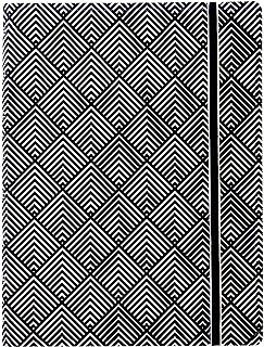 Filofax B115067U 可填充笔记本 A5尺寸 112横格可移动页 包括 4 个索引(一个带口袋)、页标和弹性封口、黑白装饰