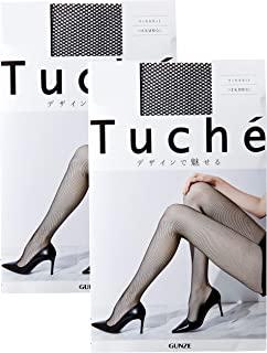 GUNZE 郡是 Tuche 花纹连裤袜 网格 同色2双装 女士 TH775D