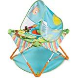 Summer Pop 'n Jump 便携式活动中心 – 轻质婴儿跳绳,带玩具,适合随身携带和在家中,紧凑折叠,便于存放…