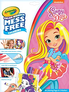 Crayola Color Wonder 著色書頁和記號筆,自由著色,送給孩子的禮物 Color Wonder Sunny Day