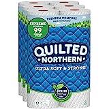 Quilted Northern 超软强马桶纸,24 张*高卷,24 支 = 99 张常规卷,沐浴纸,3 包 8 卷