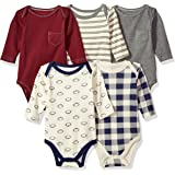 Hudson Baby 婴儿长袖连体衣5件装