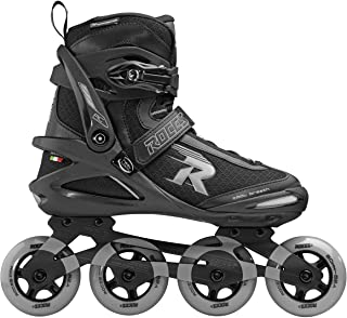 Roces 中性 - 成人 Pic TIF 直排轮滑鞋,黑浅灰色,38
