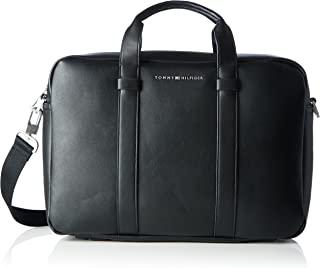 Tommy Hilfiger 男式TH City Bag,黑色,8x28x40 厘米(高 x 高)