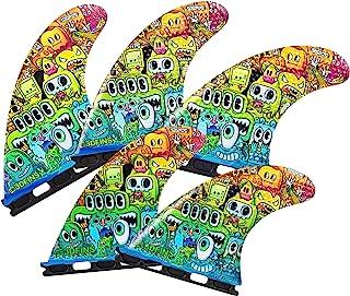 3DFINS 高性能冲浪板脚蹼 GOHARD 系列 – 5 脚蹼,期货底座 – 凹陷技术 – *大控制