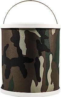 Camco 可折叠桶带储物盒 - 耐用弹出式桶带防水面料,可容纳 3 加仑(约 9.8 升)的水-非常适合房车、露营、钓鱼、划船、徒步旅行等 - 迷彩(42994)