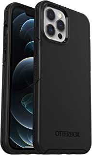 OtterBox Symmetry - 优雅超薄防摔保护套,适用于Apple iPhone 12 Pro Max,黑色