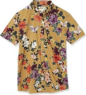 goodthreads 男式 standard-fit 短袖印花衬衫