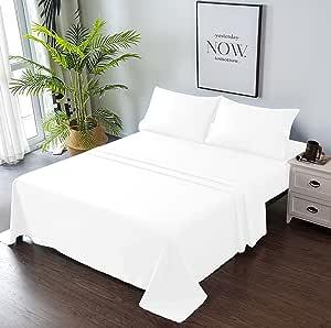 Goza Bedding 4 件套超细纤维床单套装 白色 King
