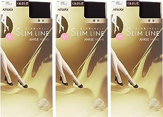 (厚木)ATSUGI 连裤袜 SLIM LINE(细线) 加厚 袜筒长度 丝袜 〈3双装〉