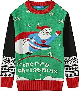 SSLR 大男孩圣诞趣味套头圆领圣诞丑毛衣