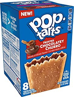 Pop-Tarts, Breakfast Toaster Pastries, Frosted Chocolatey Churro, 13.5oz Box (Pack of 12)