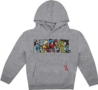 Marvel 漫威男孩徽标人物连帽衫