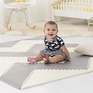 Skip Hop Geo Playspots 泡沫瓷砖,游戏地毯,奶油色和灰色