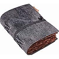 复古皮革杂志 - 皮革杂志 - 复古杂志 - 影子书 - 拼写书 - 皮革装订杂志 - 复古甲板边缘手工纸(黑板灰色,2…