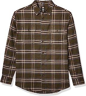 Dickies 男士长袖弹性法兰绒衬衫